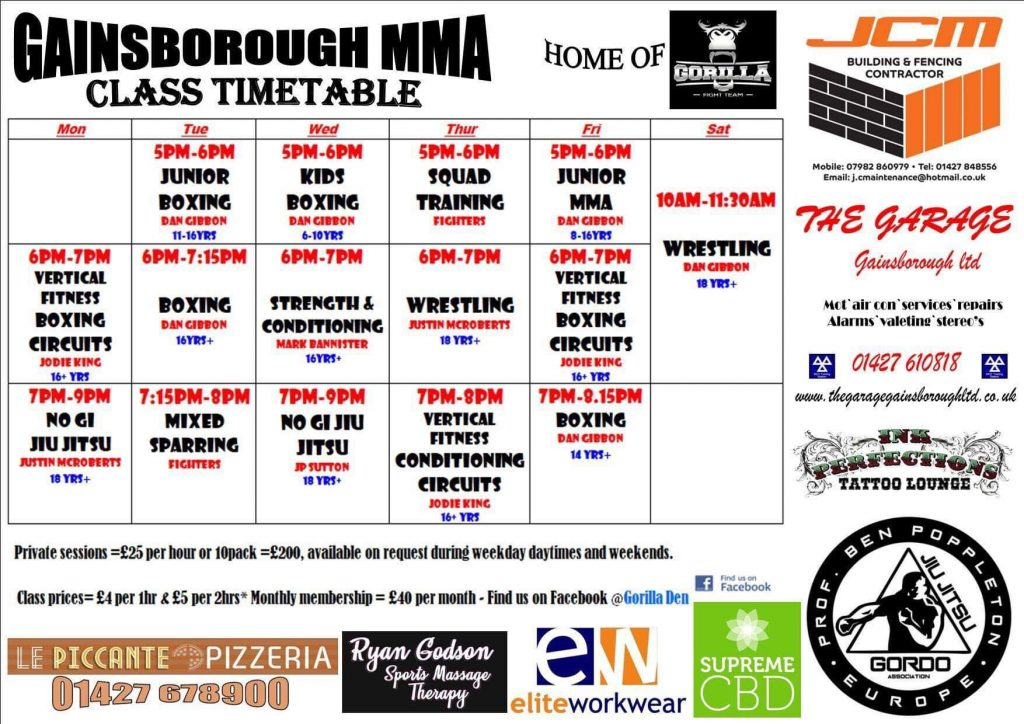 Gainsborough Boxing Classes, Jiu Jitsu & Wrestling